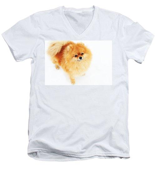I Am Here I Men's V-Neck T-Shirt by Jenny Rainbow