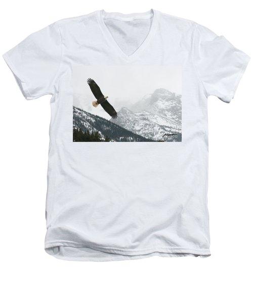 I Am The Eagle Men's V-Neck T-Shirt