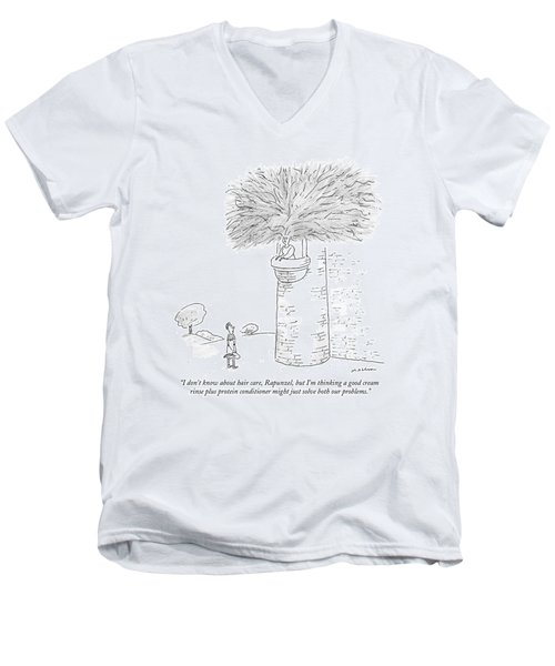 ?i Don?t Know About Hair Care Men's V-Neck T-Shirt
