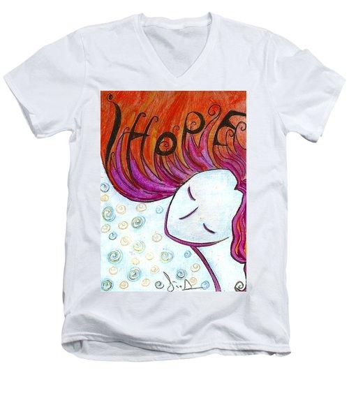 I Hope Men's V-Neck T-Shirt by Gioia Albano