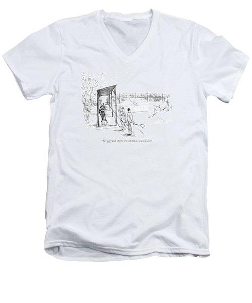 I Hope You're Good Men's V-Neck T-Shirt