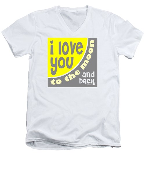 I Love You To The Moon Men's V-Neck T-Shirt