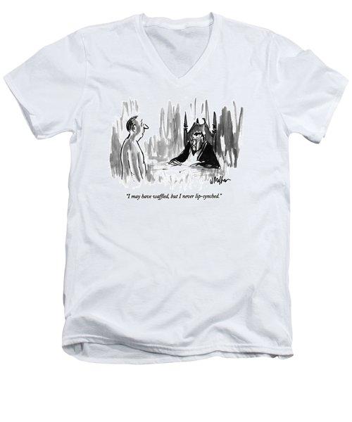 I May Have Waffled Men's V-Neck T-Shirt