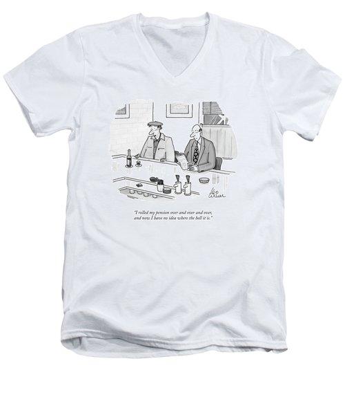 I Rolled My Pension Men's V-Neck T-Shirt