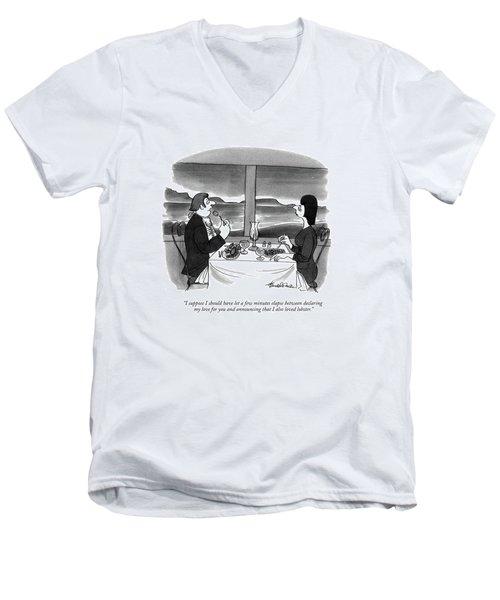 I Suppose I Should Have Let A Few Minutes Elapse Men's V-Neck T-Shirt