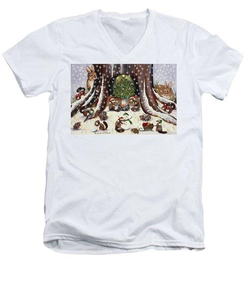 I Wish We Were Invited Men's V-Neck T-Shirt by Jennifer Lake