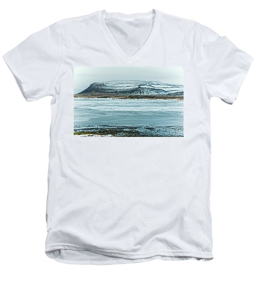 Icelandic Winter Landscape Men's V-Neck T-Shirt