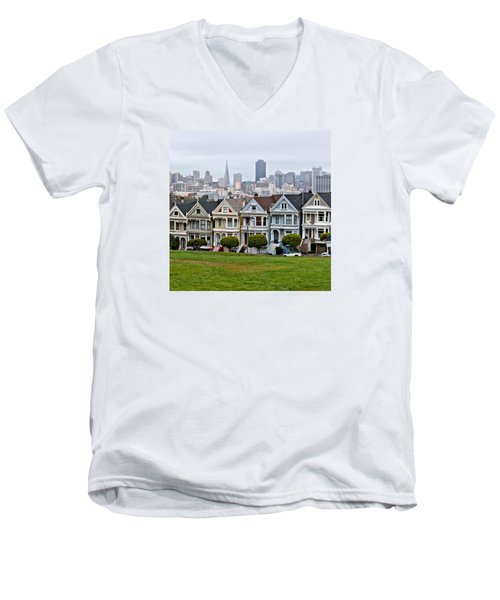 Iconic Painted Ladies Men's V-Neck T-Shirt