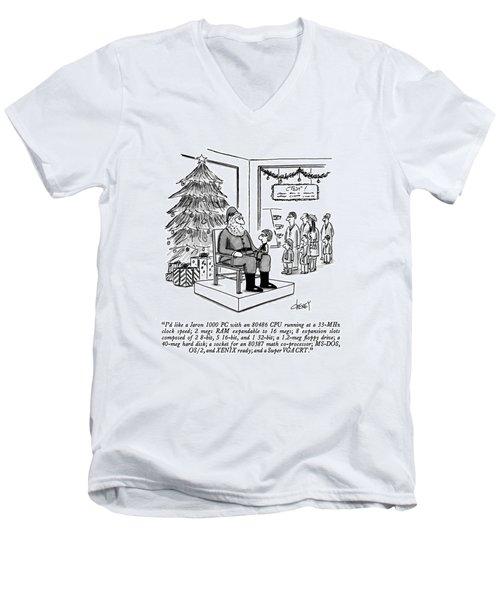 I'd Like A Jaron 1000 Pc  With An 80486 Cpu Men's V-Neck T-Shirt