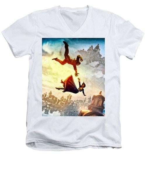 If You Fall Men's V-Neck T-Shirt