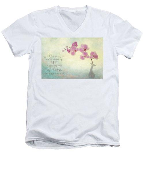 Ikebana With Message Men's V-Neck T-Shirt