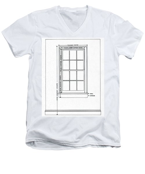 Illustration Of A Window Men's V-Neck T-Shirt