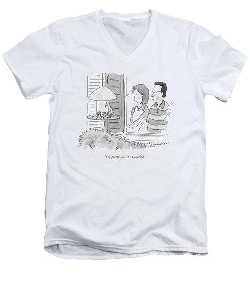 I'm Pretty Sure It's A Jaybird Men's V-Neck T-Shirt