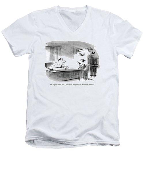 I'm Sleeping Better Men's V-Neck T-Shirt