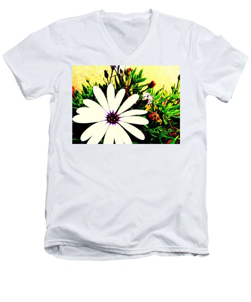 Men's V-Neck T-Shirt featuring the photograph Imagination Growing by Faith Williams