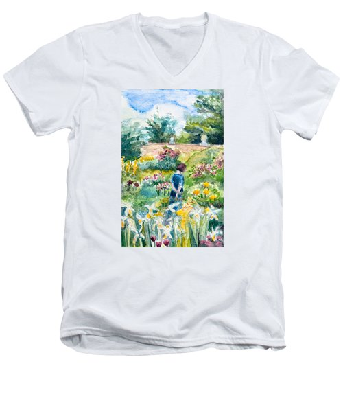 In An English Cottage Garden Men's V-Neck T-Shirt