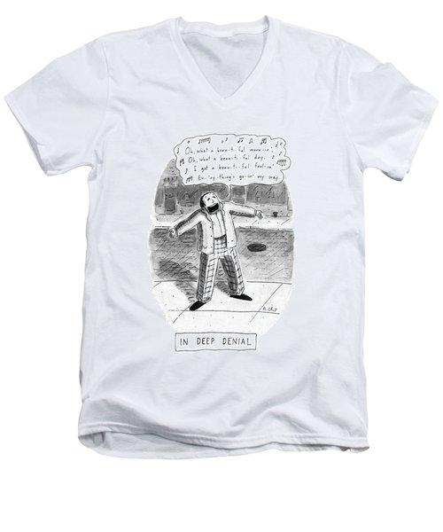 In Deep Denial Oh Men's V-Neck T-Shirt