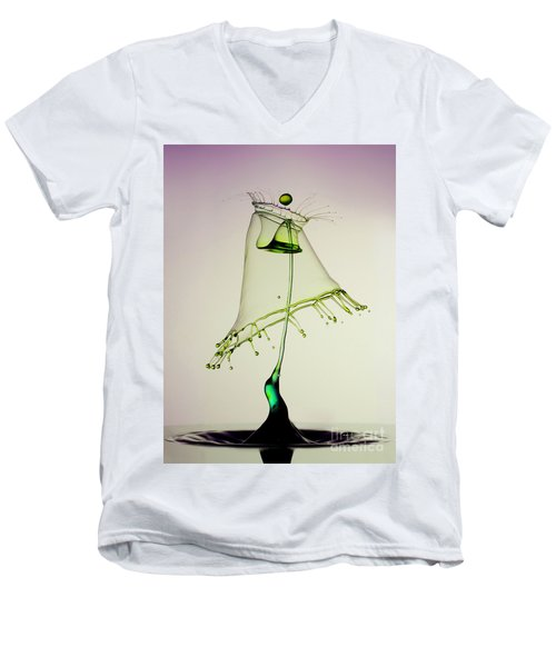 In Green Men's V-Neck T-Shirt