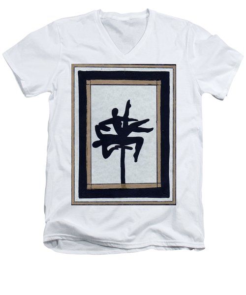 In Perfect Balance Men's V-Neck T-Shirt by Barbara St Jean