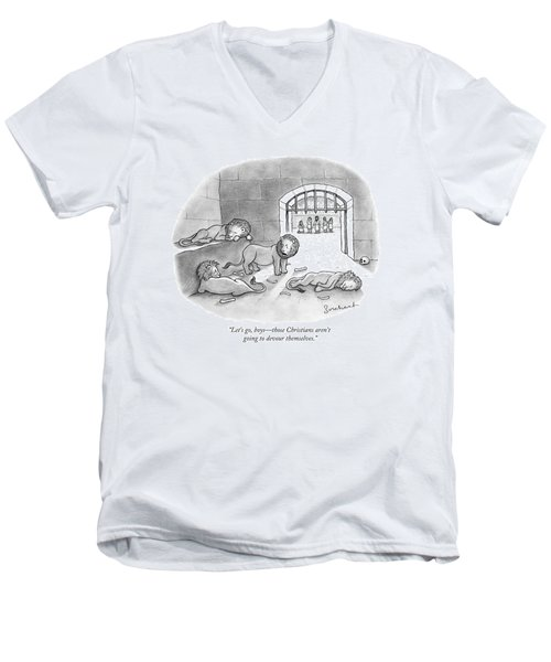 In Roman Stadium Men's V-Neck T-Shirt