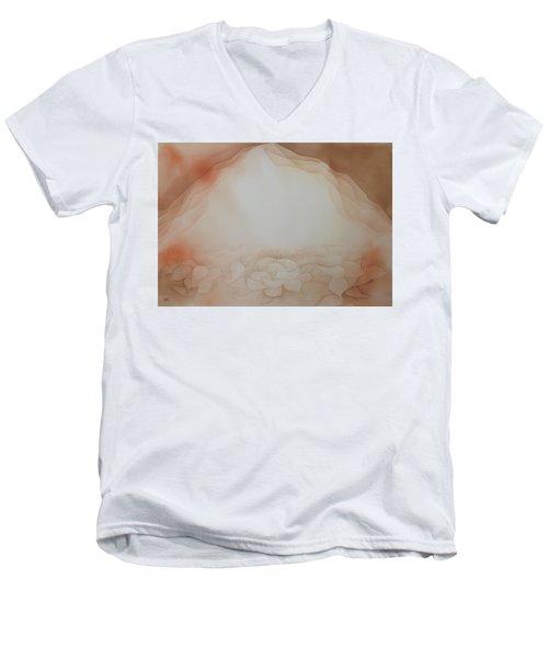 In The Beginning Men's V-Neck T-Shirt by Richard Faulkner