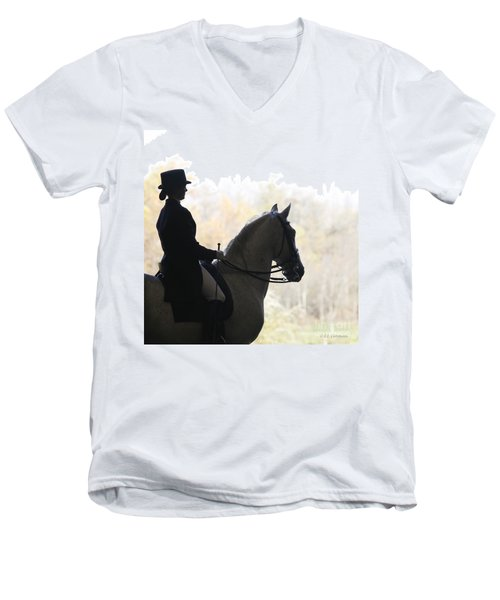 In The Distance Men's V-Neck T-Shirt by Carol Lynn Coronios