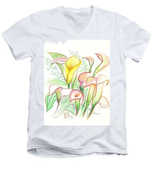In The Golden Afternoon Men's V-Neck T-Shirt
