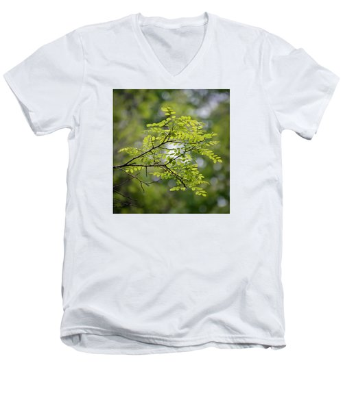 Men's V-Neck T-Shirt featuring the photograph In The Green by Kerri Farley
