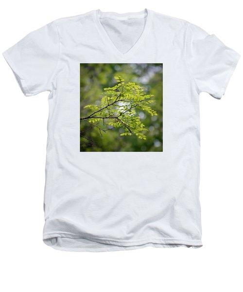 In The Green Men's V-Neck T-Shirt by Kerri Farley