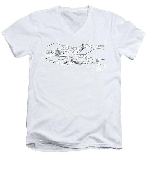 In The Land Of Brigadoon  Men's V-Neck T-Shirt by Kip DeVore