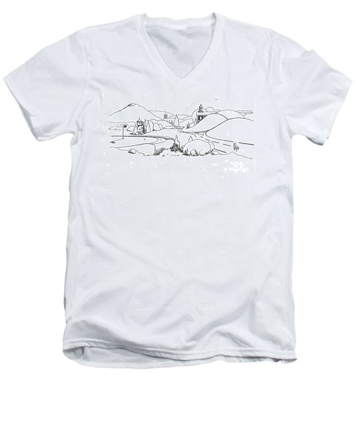 In The Land Of Brigadoon  Men's V-Neck T-Shirt