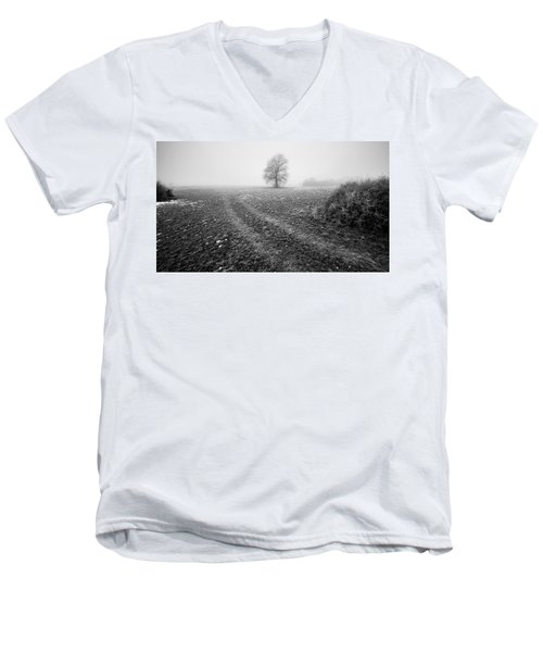 Men's V-Neck T-Shirt featuring the photograph In The Mist by Davorin Mance