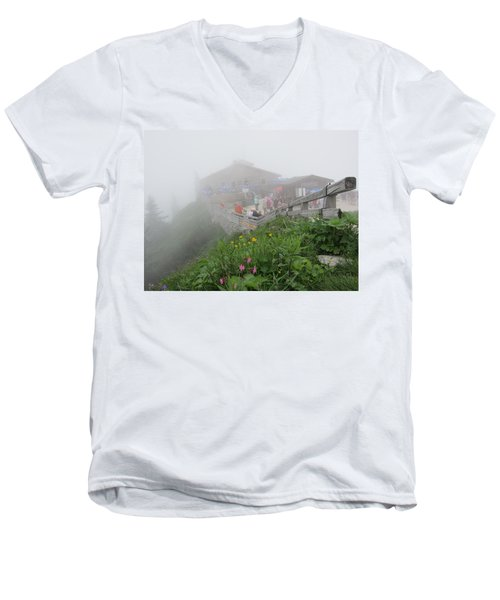 Men's V-Neck T-Shirt featuring the photograph In The Mist by Pema Hou