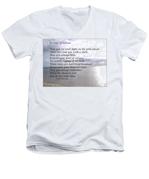 In Time Of Sorrow Men's V-Neck T-Shirt