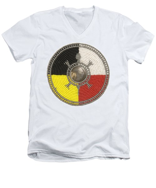 Indian Head Turtle Men's V-Neck T-Shirt