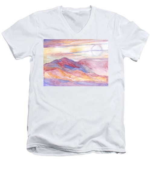 Indian Summer Sky Men's V-Neck T-Shirt