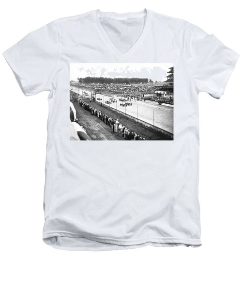 Indy 500 Auto Race Men's V-Neck T-Shirt