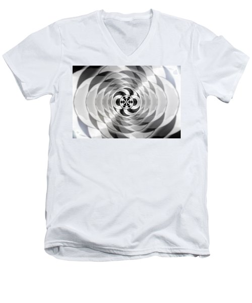 Men's V-Neck T-Shirt featuring the drawing Infinity Bonded by Derek Gedney