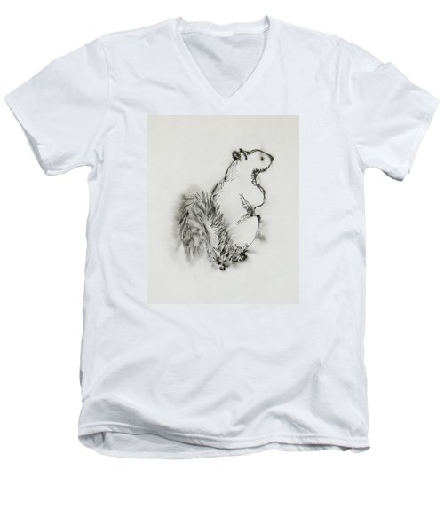 Ink Squirrel Men's V-Neck T-Shirt