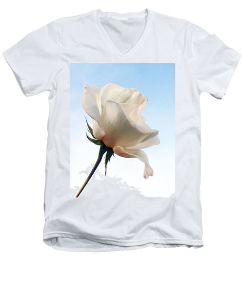 Men's V-Neck T-Shirt featuring the photograph Innocence by Deb Halloran