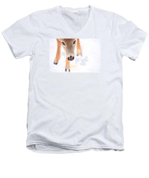 Innocent Eyes Men's V-Neck T-Shirt by Karol Livote