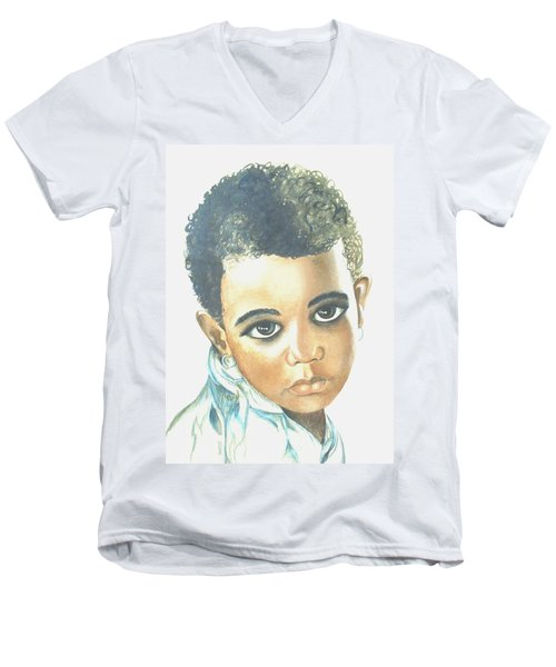 Innocent Sorrow Men's V-Neck T-Shirt by Sophia Schmierer