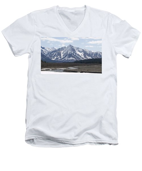 Inside Denali National Park 4 Men's V-Neck T-Shirt by Tara Lynn