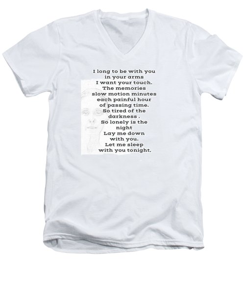 Men's V-Neck T-Shirt featuring the photograph Insomnia  by Lisa Piper