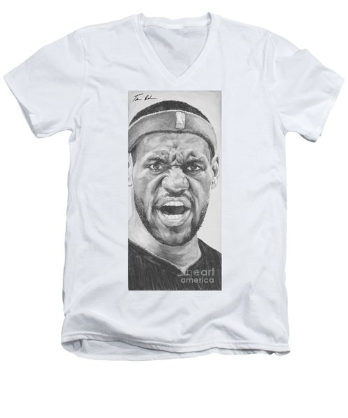 Intensity Lebron James Men's V-Neck T-Shirt