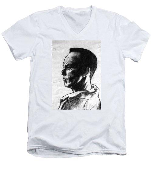 Michael Keaton Men's V-Neck T-Shirt by Salman Ravish