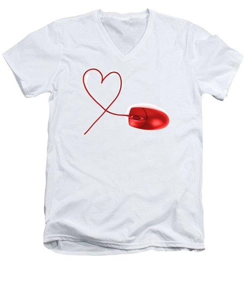 Internet Love Men's V-Neck T-Shirt