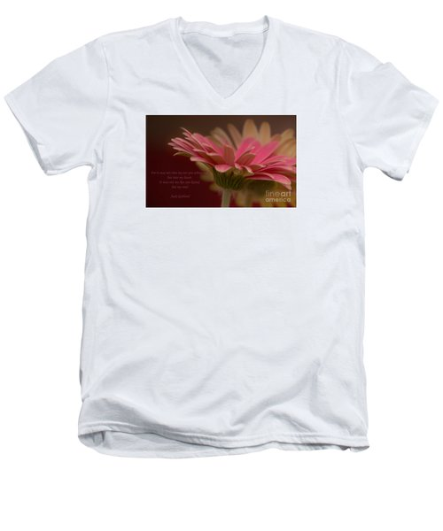 Men's V-Neck T-Shirt featuring the photograph Into My Soul by Rima Biswas