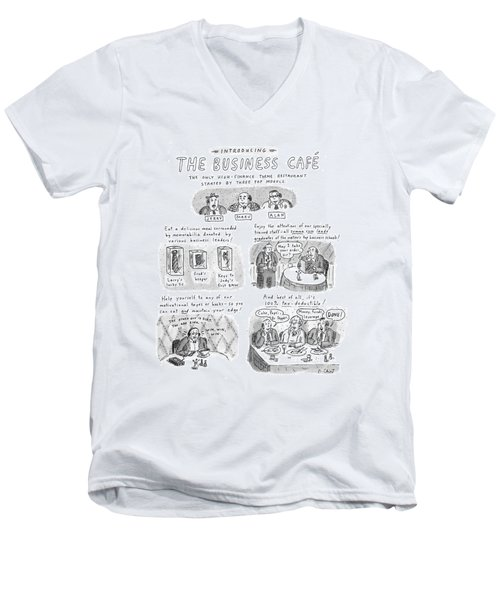 Introducing The Business Cafe The Only Men's V-Neck T-Shirt