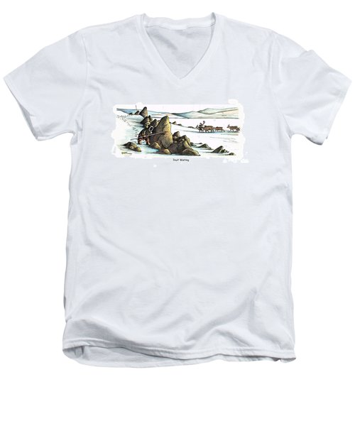 Inuit Waiting Men's V-Neck T-Shirt